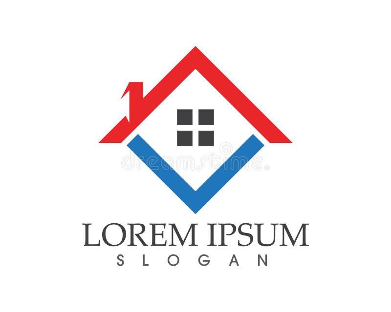 Λογότυπο εγχώριων κτηρίων και πρότυπο εικονιδίων συμβόλων διανυσματική απεικόνιση