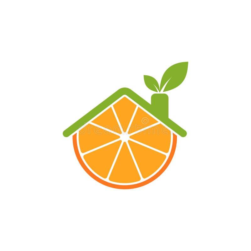Λογότυπο εικονιδίων εγχώριου χυμού από πορτοκάλι απεικόνιση αποθεμάτων