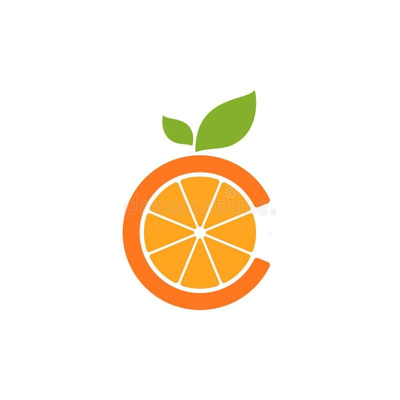Λογότυπο εικονιδίων εγχώριου χυμού από πορτοκάλι διανυσματική απεικόνιση