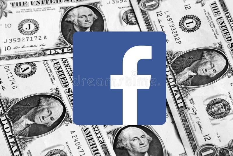 Λογότυπο εικονιδίων Facebook στοκ φωτογραφίες με δικαίωμα ελεύθερης χρήσης