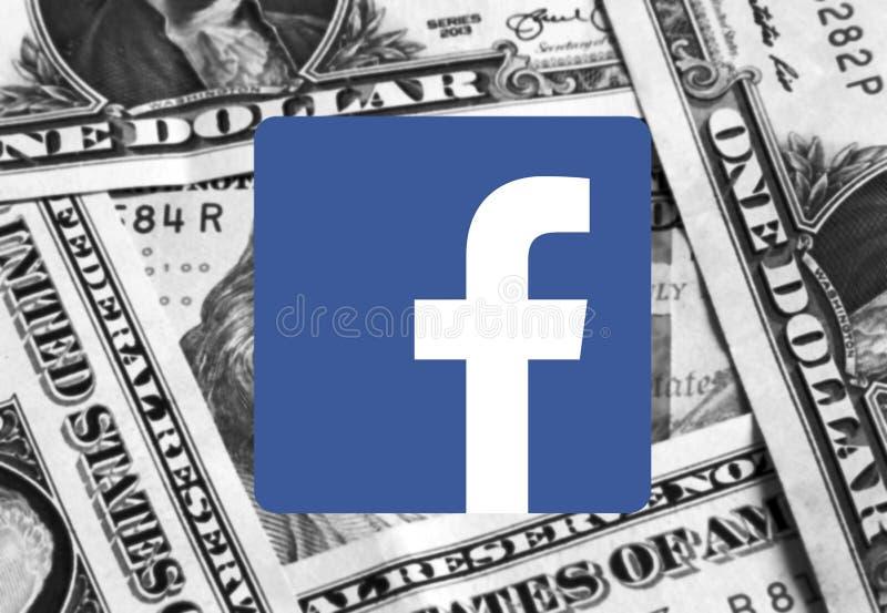 Λογότυπο εικονιδίων Facebook στοκ εικόνα
