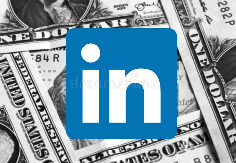 Λογότυπο εικονιδίων Linkedin στοκ εικόνες