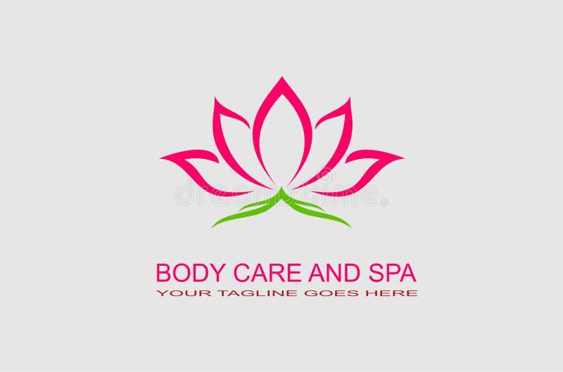 Λογότυπο εικονιδίων Lotus διανυσματική απεικόνιση