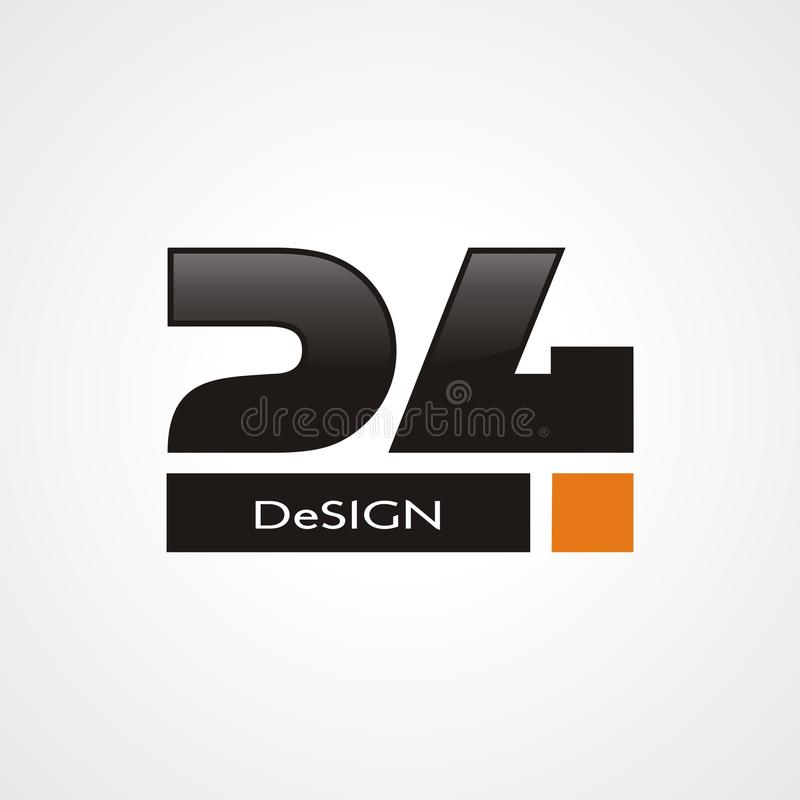Λογότυπο εικοσιτέσσερα διανυσματική απεικόνιση