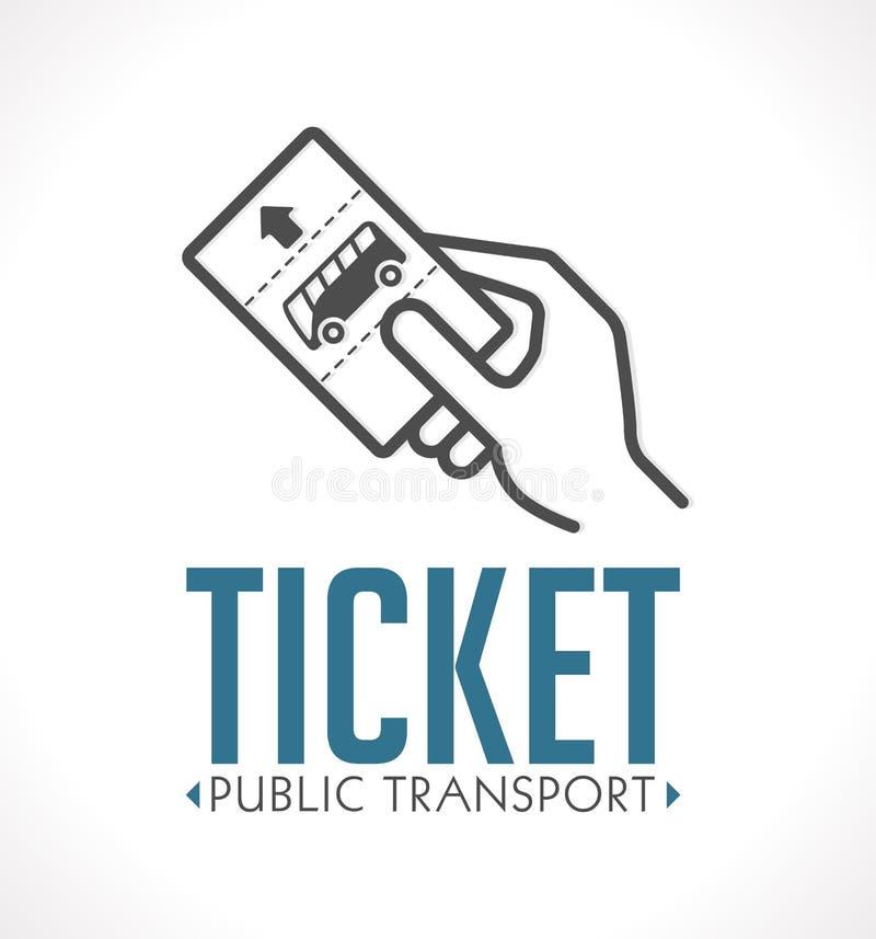 Λογότυπο εισιτηρίων δημόσιων συγκοινωνιών απεικόνιση αποθεμάτων