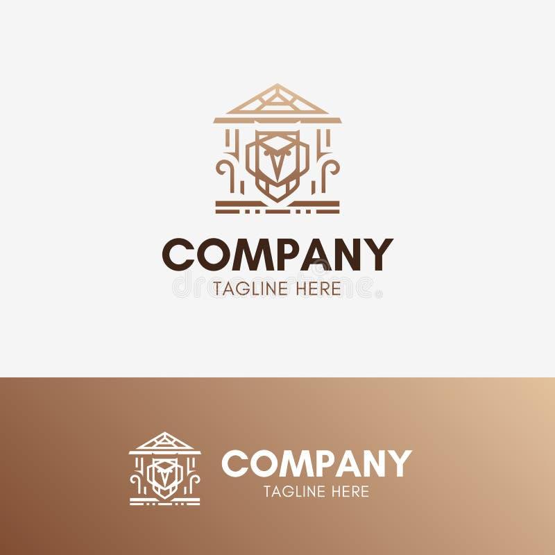 Λογότυπο εκπαίδευσης κουκουβαγιών απεικόνιση αποθεμάτων