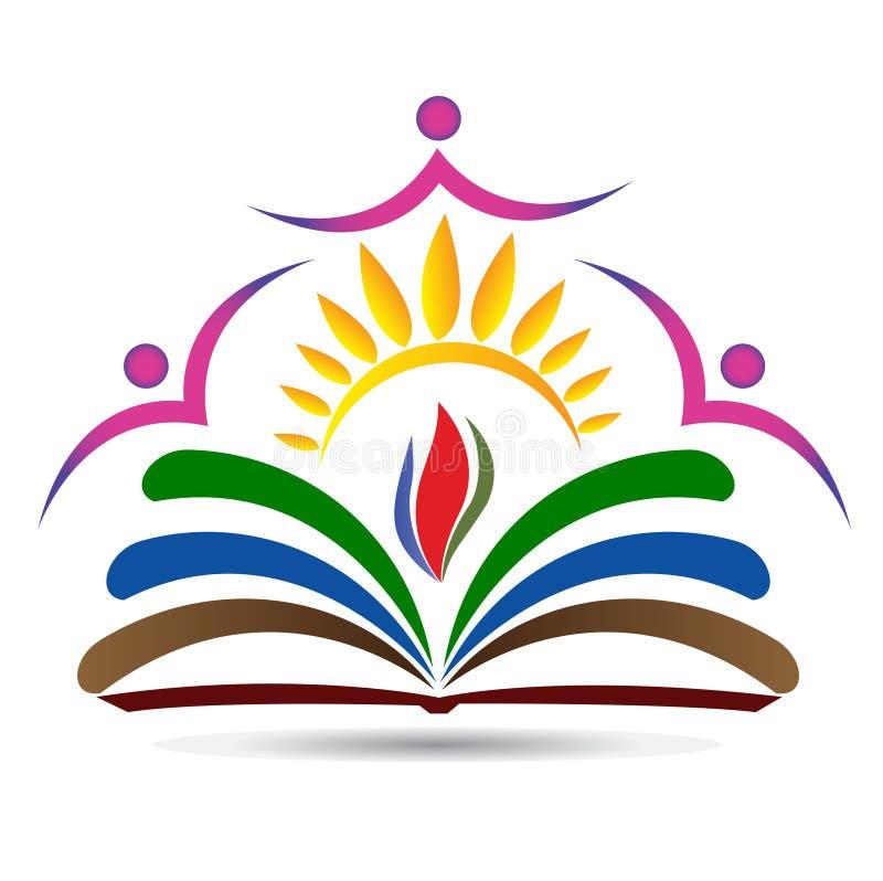Λογότυπο εκπαίδευσης φωτεινότητας διανυσματική απεικόνιση