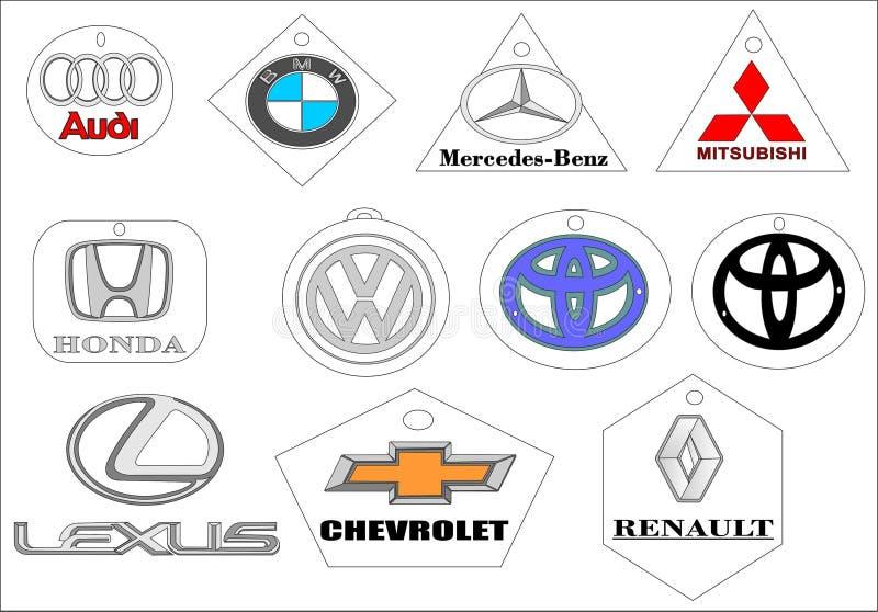 Λογότυπο εμβλημάτων εμπορικών σημάτων αυτοκινήτων διανυσματική απεικόνιση