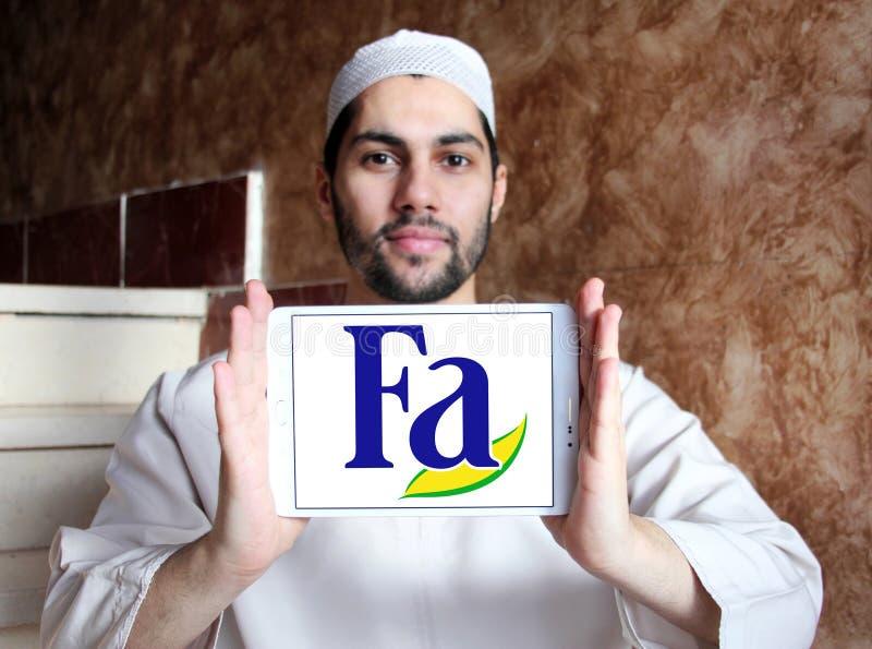 Λογότυπο εμπορικών σημάτων FA στοκ εικόνες