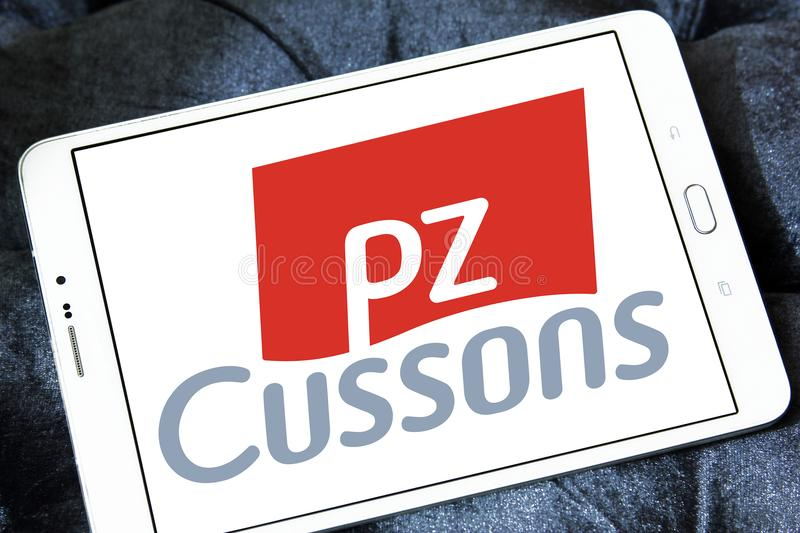 Λογότυπο εμπορικών σημάτων PZ Cussons στοκ φωτογραφίες