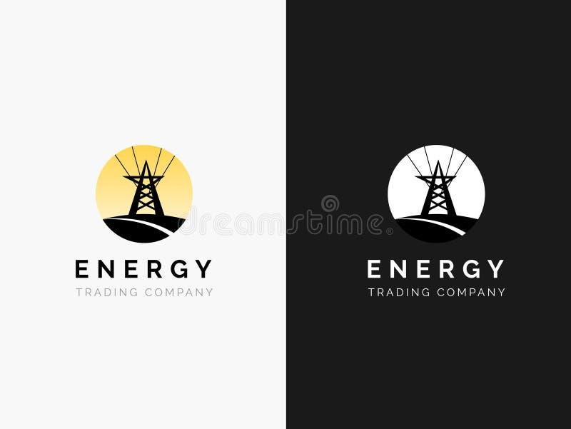 Λογότυπο ενεργειακής επιχείρησης διανυσματική απεικόνιση