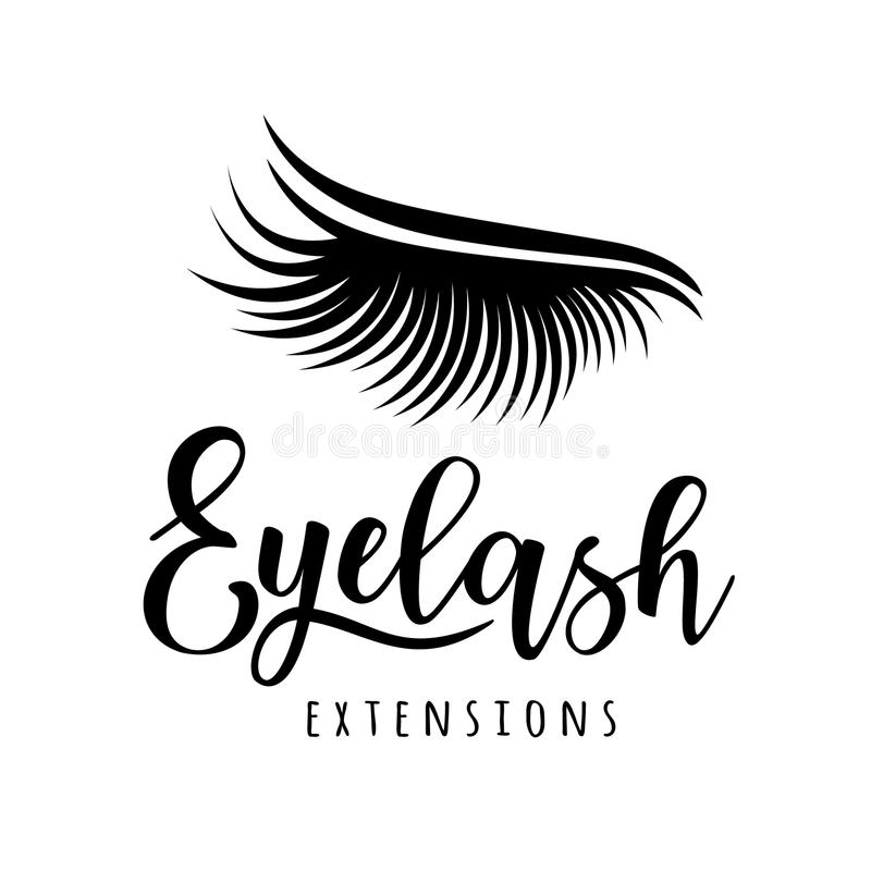 Λογότυπο επέκτασης Eyelash διανυσματική απεικόνιση