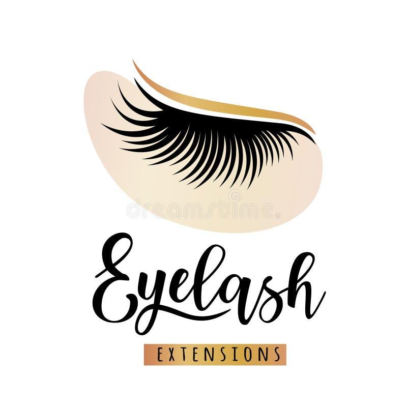 Λογότυπο επεκτάσεων Eyelash με το μπάλωμα ματιών ελεύθερη απεικόνιση δικαιώματος
