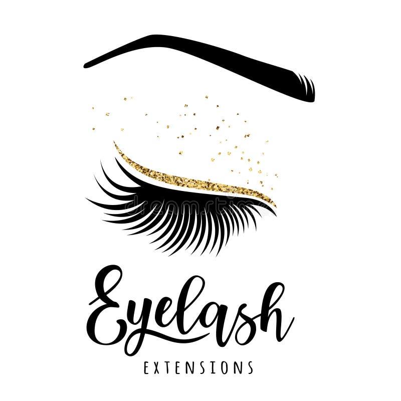 Λογότυπο επεκτάσεων Eyelash διανυσματική απεικόνιση