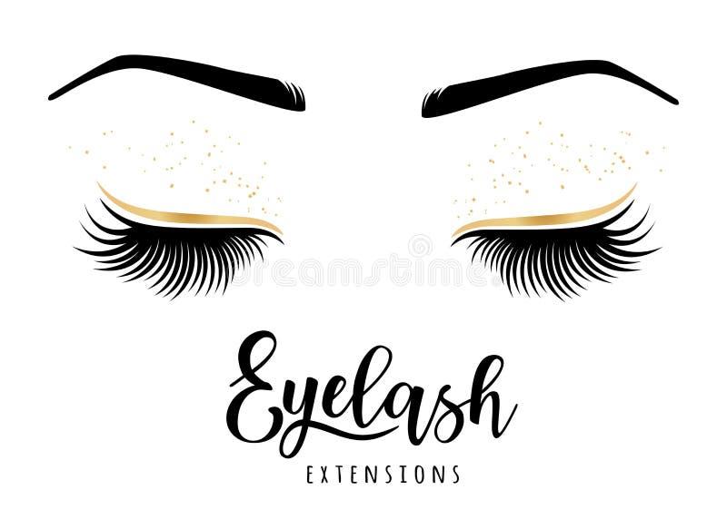 Λογότυπο επεκτάσεων Eyelash απεικόνιση αποθεμάτων