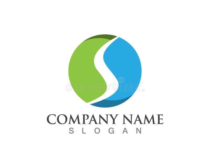 Λογότυπο επιστολών του S, στοιχείο προτύπων σχεδίου εικονιδίων όγκου ελεύθερη απεικόνιση δικαιώματος