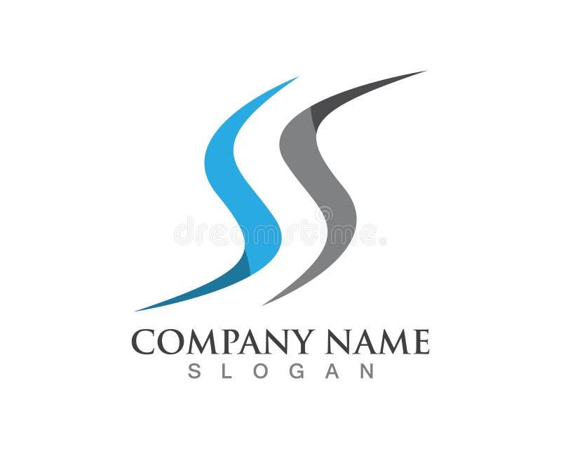 Λογότυπο επιστολών του S, στοιχείο προτύπων σχεδίου εικονιδίων όγκου διανυσματική απεικόνιση