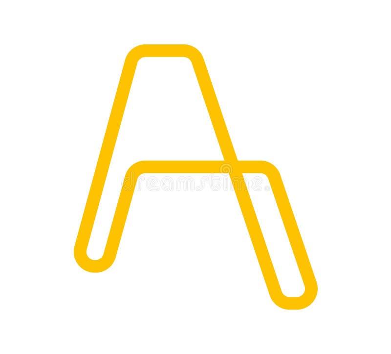 Λογότυπο επιστολών Stepladder Α, που απομονώνεται στο άσπρο υπόβαθρο ελεύθερη απεικόνιση δικαιώματος