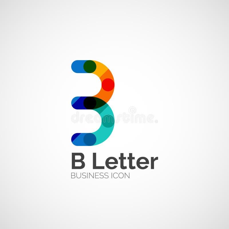 Λογότυπο επιστολών Β, ελάχιστο σχέδιο γραμμών ελεύθερη απεικόνιση δικαιώματος