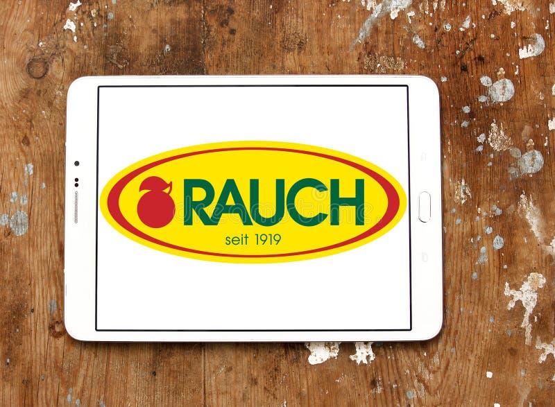 Λογότυπο επιχείρησης ποτών Rauch στοκ φωτογραφίες