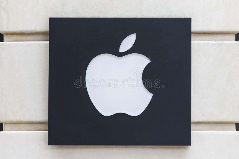 Λογότυπο επιχείρησης της Apple στοκ φωτογραφία με δικαίωμα ελεύθερης χρήσης