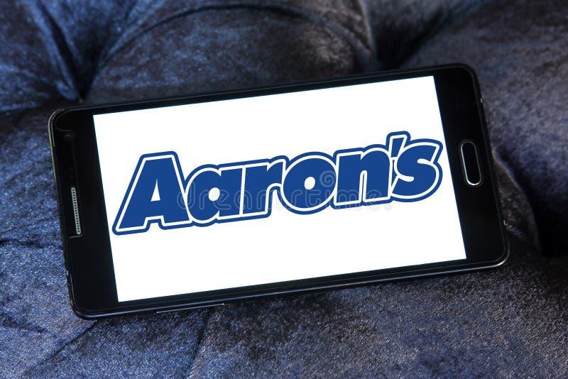Λογότυπο επιχείρησης του Aaron ` s στοκ φωτογραφίες