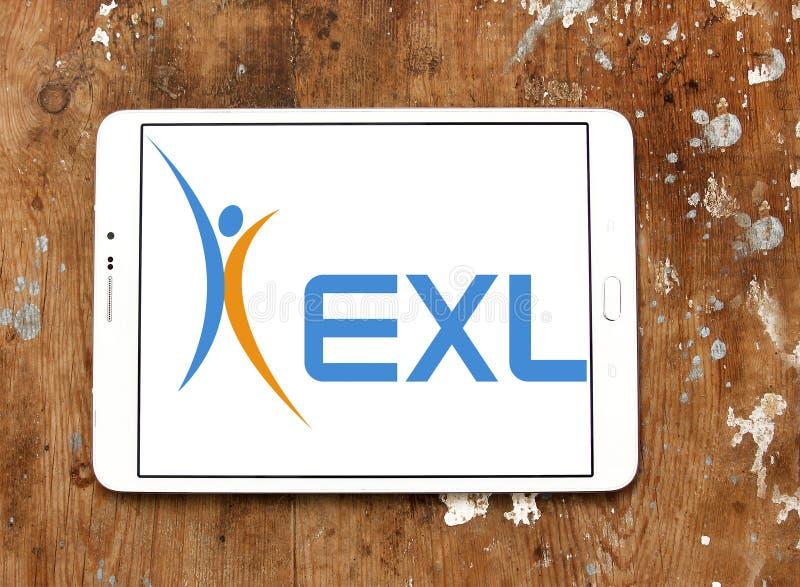 Λογότυπο επιχείρησης υπηρεσιών επιχείρησης EXL στοκ εικόνες