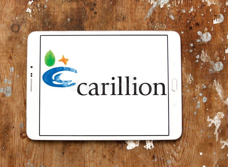 Λογότυπο επιχείρησης Carillion στοκ φωτογραφία