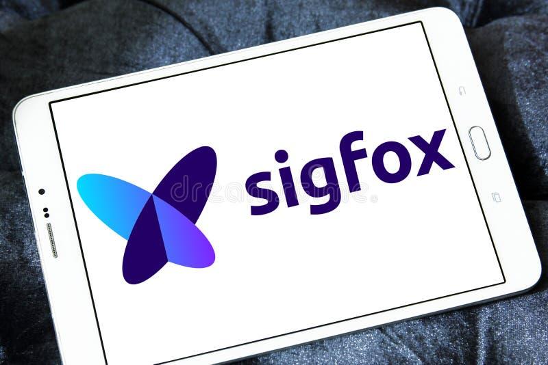 Λογότυπο επιχείρησης Sigfox στοκ φωτογραφία με δικαίωμα ελεύθερης χρήσης