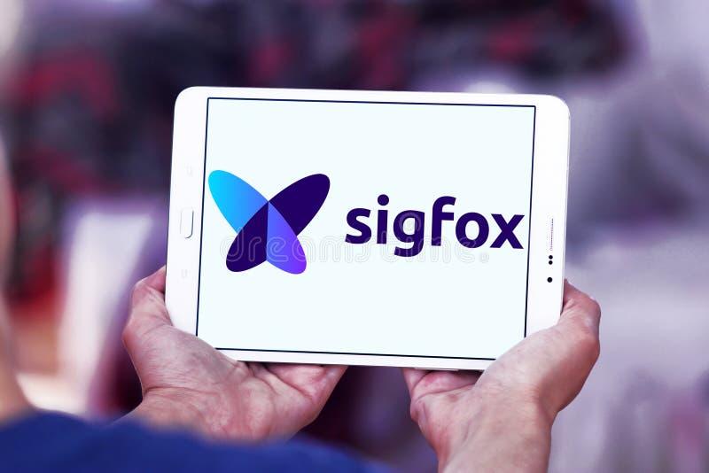 Λογότυπο επιχείρησης Sigfox στοκ φωτογραφίες