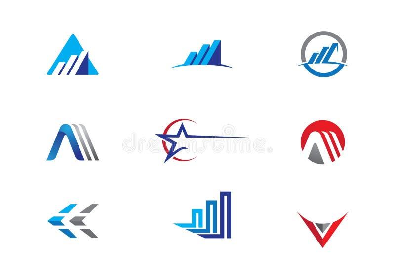 Λογότυπο επιχειρησιακής χρηματοδότησης απεικόνιση αποθεμάτων