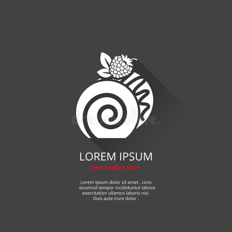 Λογότυπο επιδορπίων και κέικ απεικόνιση αποθεμάτων