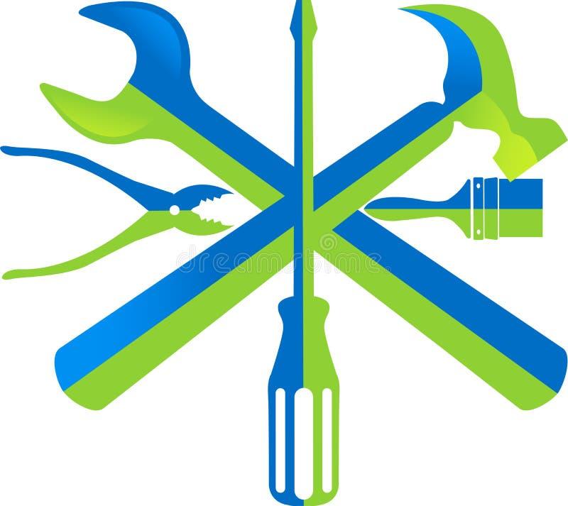 Λογότυπο εργαλειοθηκών διανυσματική απεικόνιση