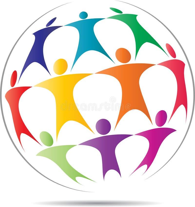 Λογότυπο εργασίας ομάδας ελεύθερη απεικόνιση δικαιώματος