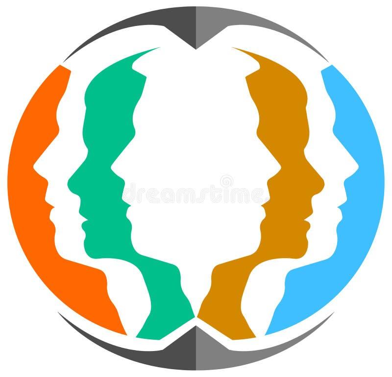 Λογότυπο εργασίας ομάδας διανυσματική απεικόνιση