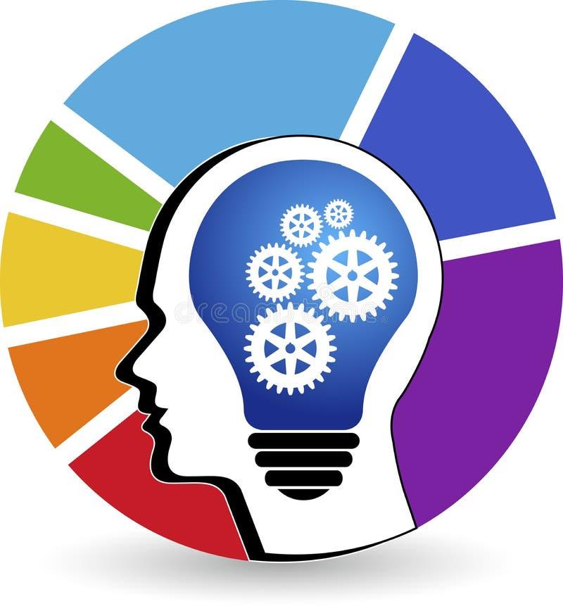 Λογότυπο εργαλείων μυαλού διανυσματική απεικόνιση