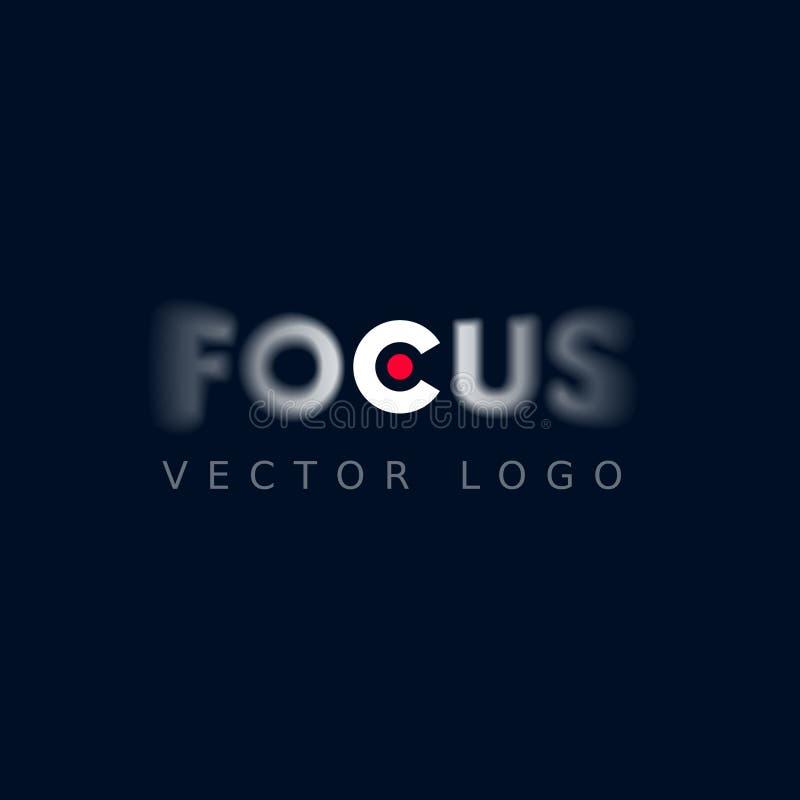 Λογότυπο εστίασης διανυσματική απεικόνιση