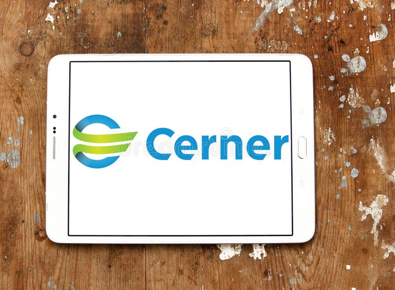 Λογότυπο εταιριών Cerner στοκ φωτογραφίες με δικαίωμα ελεύθερης χρήσης