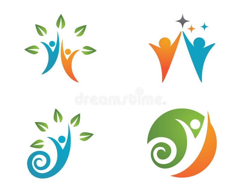 Λογότυπο ζωής και διασκέδασης υγείας απεικόνιση αποθεμάτων