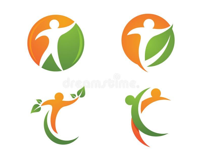 Λογότυπο ζωής και διασκέδασης Healht απεικόνιση αποθεμάτων
