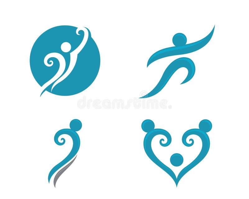 Λογότυπο ζωής και διασκέδασης Healhty απεικόνιση αποθεμάτων