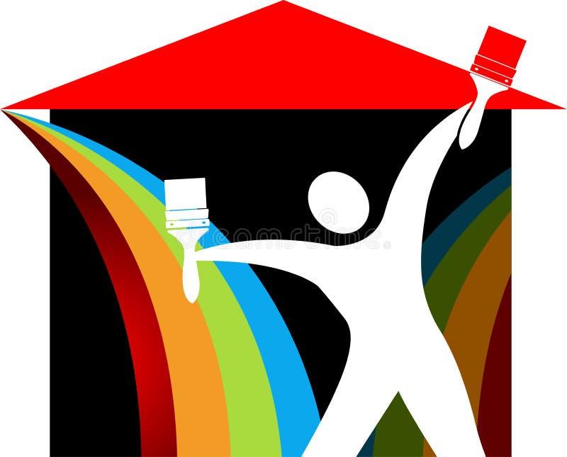 Λογότυπο ζωγράφων ελεύθερη απεικόνιση δικαιώματος