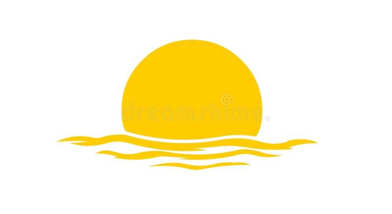 Λογότυπο ηλιοβασιλέματος απεικόνιση αποθεμάτων