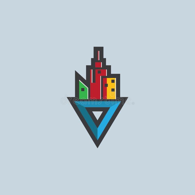 Λογότυπο θέσης διευθύνσεων στοκ εικόνα με δικαίωμα ελεύθερης χρήσης
