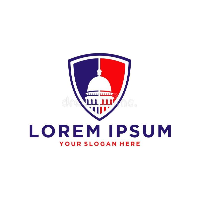 Λογότυπο θόλων Capitol ελεύθερη απεικόνιση δικαιώματος