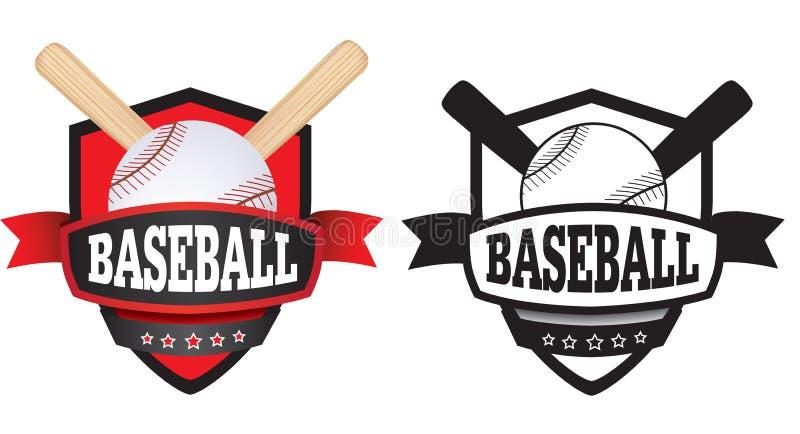 Λογότυπο, διακριτικό ή ασπίδα μπέιζ-μπώλ διανυσματική απεικόνιση