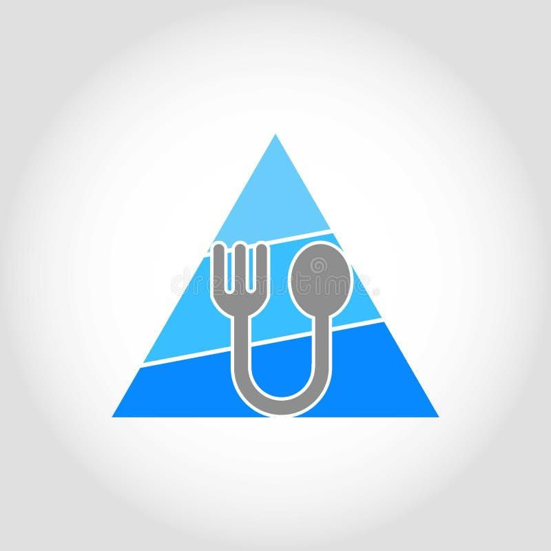 Λογότυπο δικράνων και κουταλιών απεικόνιση αποθεμάτων
