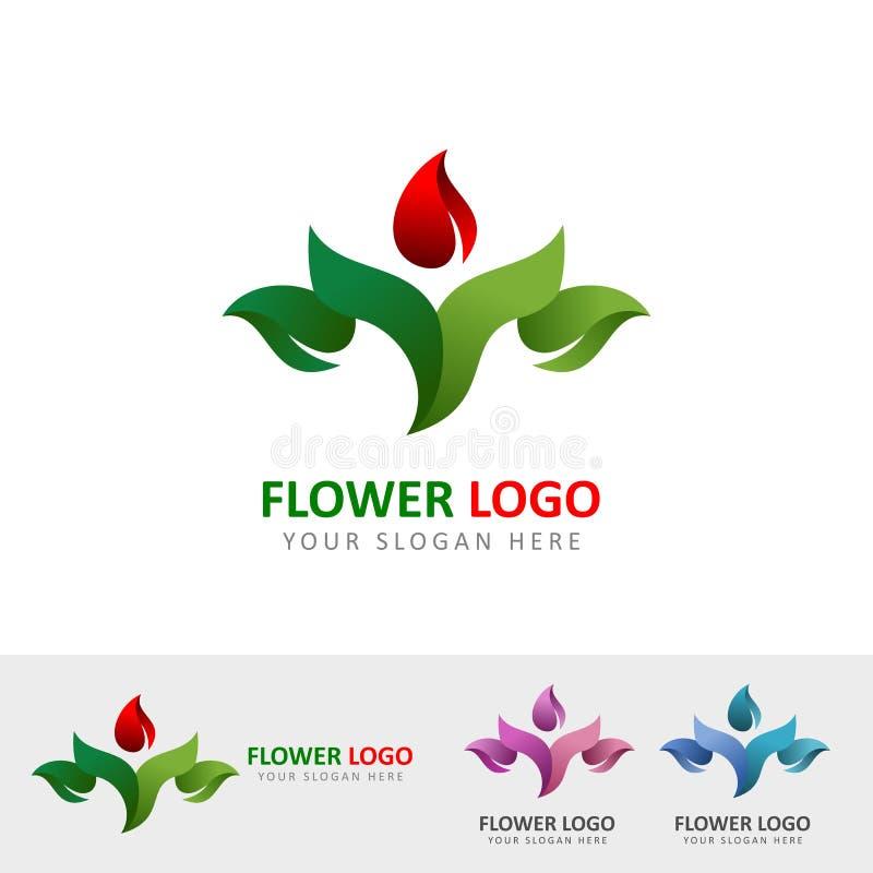 Λογότυπο κήπων λουλουδιών ελεύθερη απεικόνιση δικαιώματος