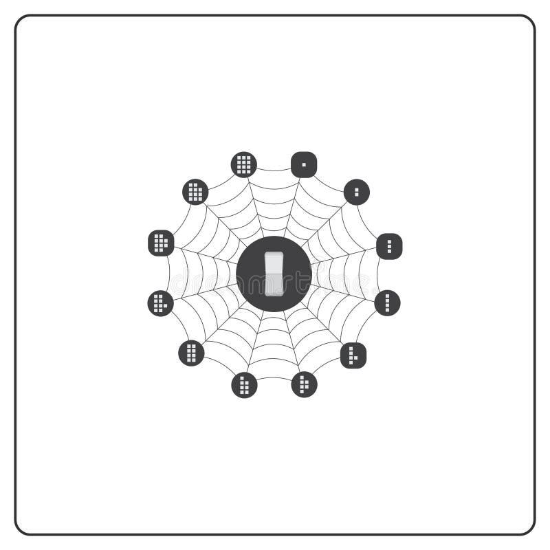 Λογότυπο και εικονίδιο για τα κρίσιμα συστήματα διαχείρισης Διαχείριση αποθηκών εμπορευμάτων στοκ φωτογραφία