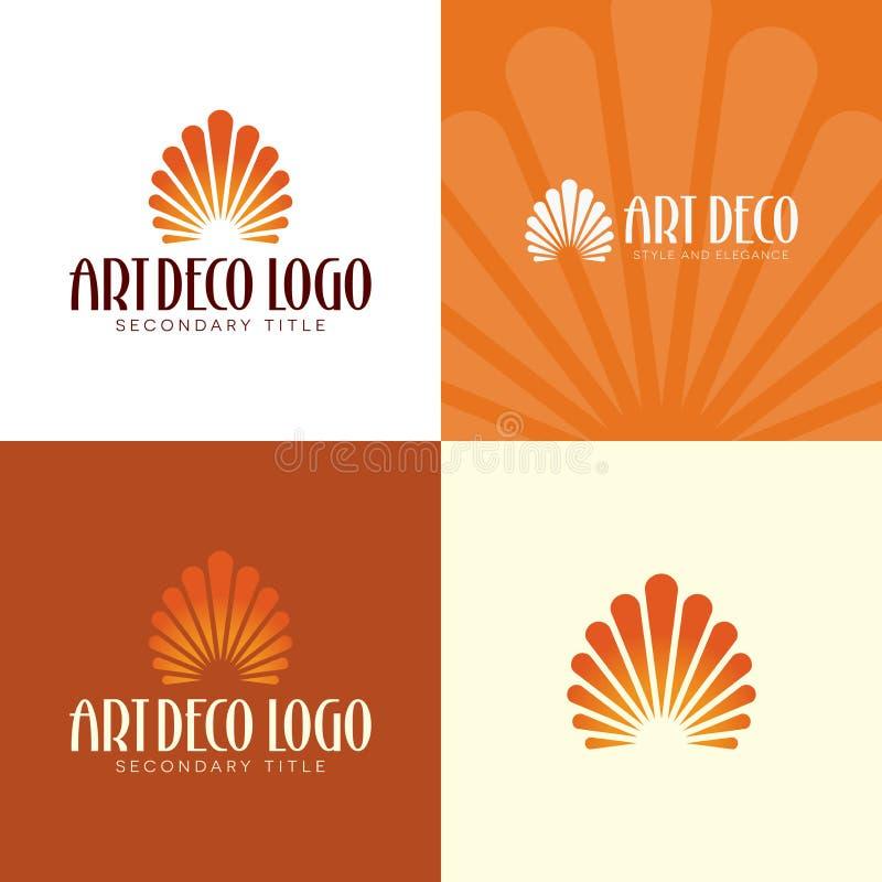 Λογότυπο και εικονίδιο του Art Deco r διανυσματική απεικόνιση